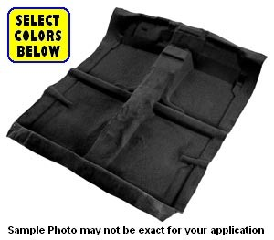 1967 CHEVROLET SUBURBAN 4 WHEEL DRIVE CARPET COMPLETE SET 2 PIECE PASSENGER AREA, BACK PANEL AND GAS TANK NECK COVER